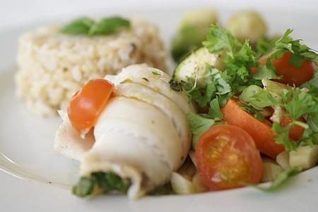 Fisk med Porrer og Krydderurter