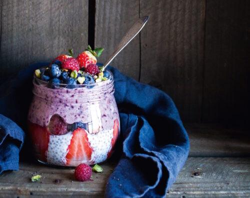 Chia mandel dessert