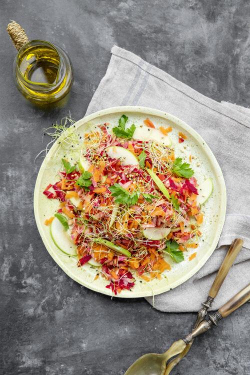 Raakostsalat - Opskrift på Sund Raakostsalat med Ristet Quinoa