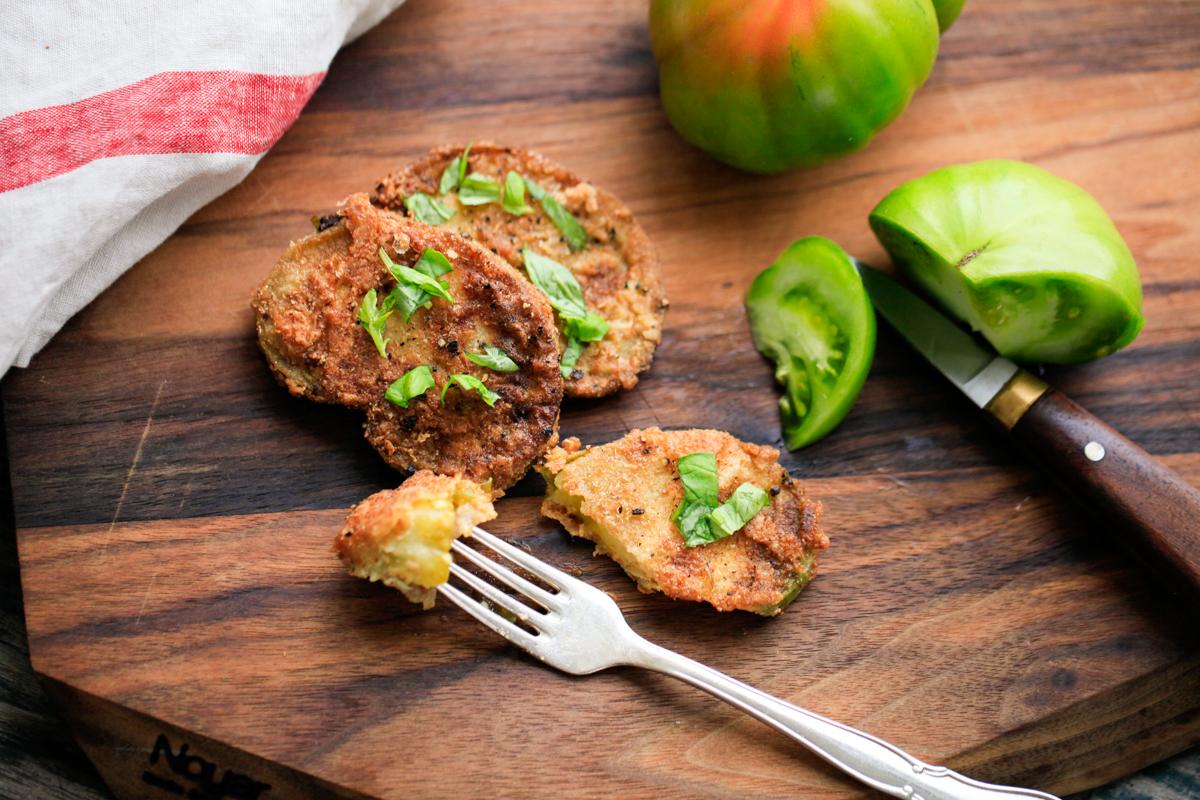 Stegte, grønne tomater – MadforLivet.com