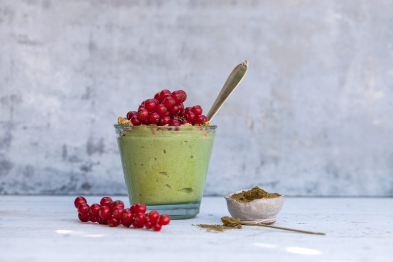 Groen yoghurt