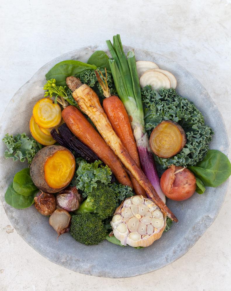 saadan faar du 600 gram frugt og groent om dagen