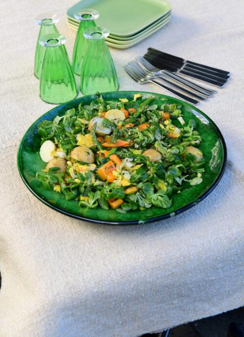 Salat med nye kartofler og asparges