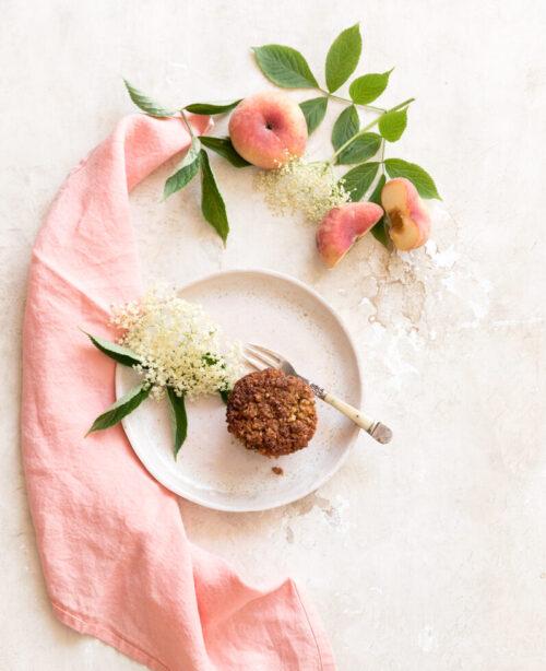 muffins med ferskner