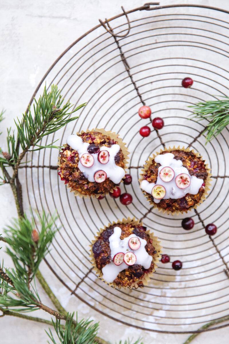 Muffins med tranebær