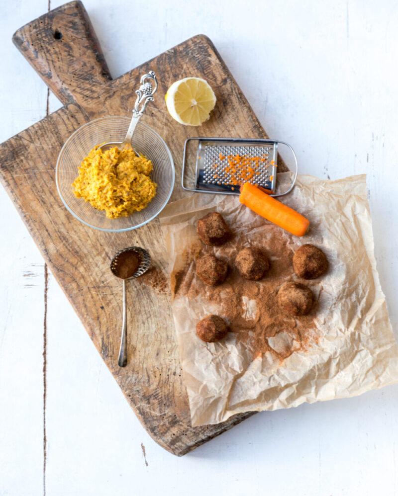 Troeffelkugler med gulerod