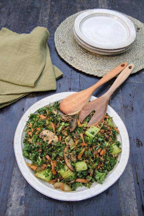 Opskrift på wok med svampe og selleri
