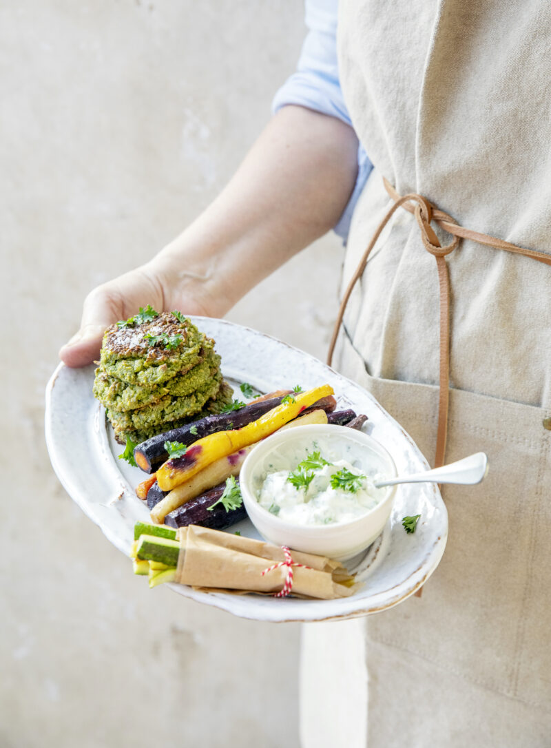 Opskrift på groenne falafler