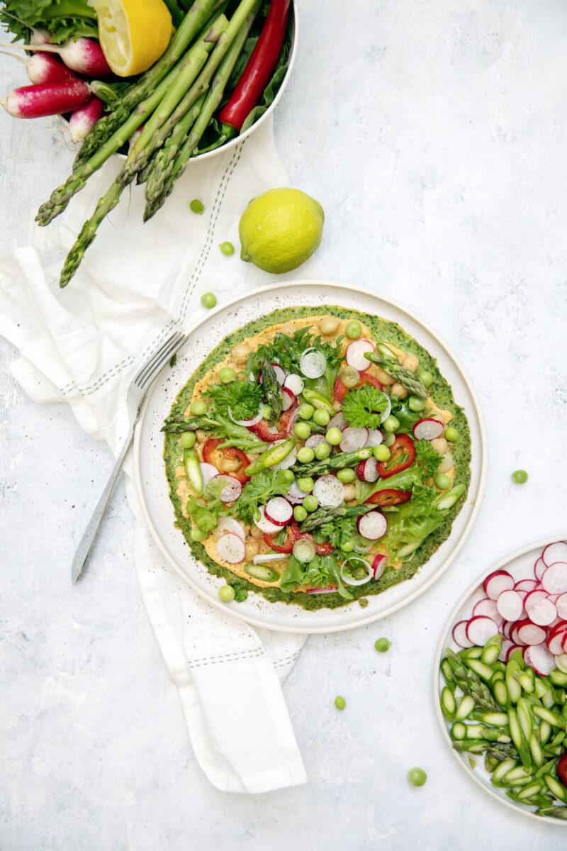 Opskrift på groenne madpandekager med hummus
