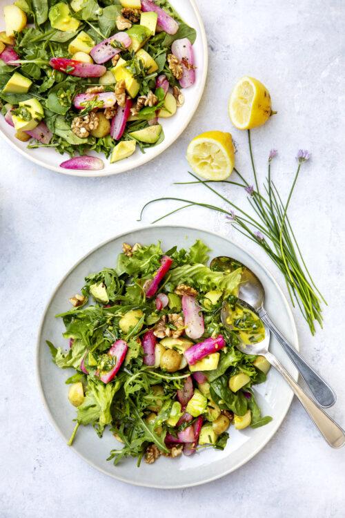 Salat med stegte radiser