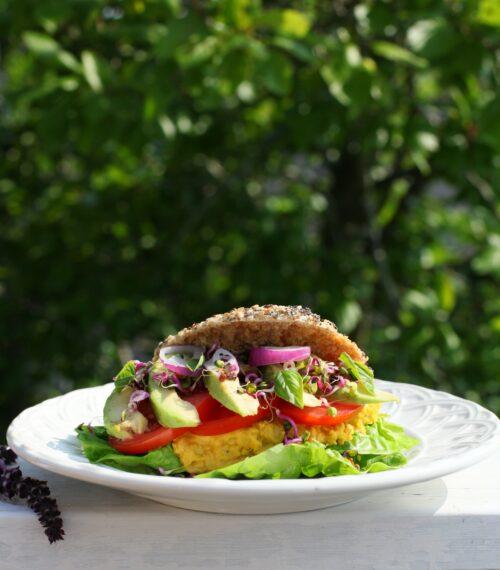 Billede af sandwich med sandwichboller.