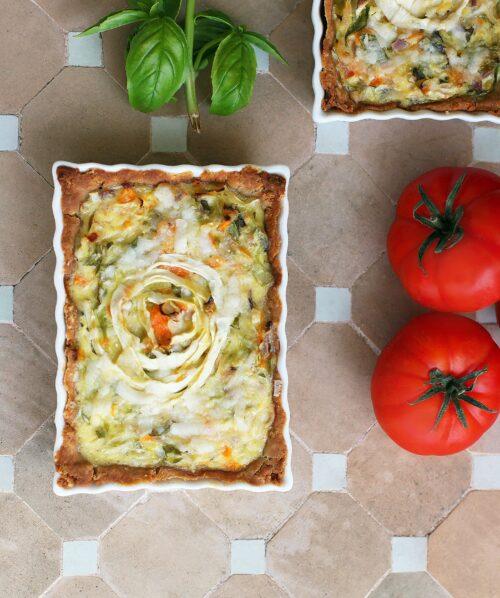 Glutenfri grøntsagstærte