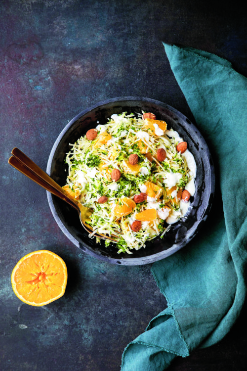 Opskrift paa laekker selleri-appelsin salat