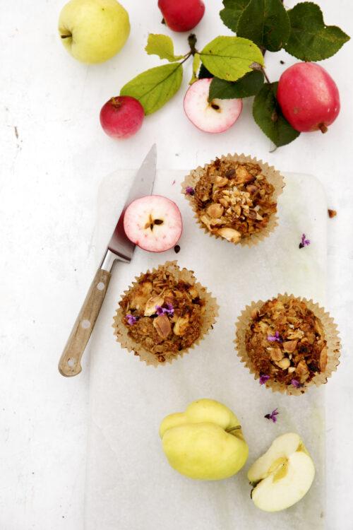 Aeble crumble muffins